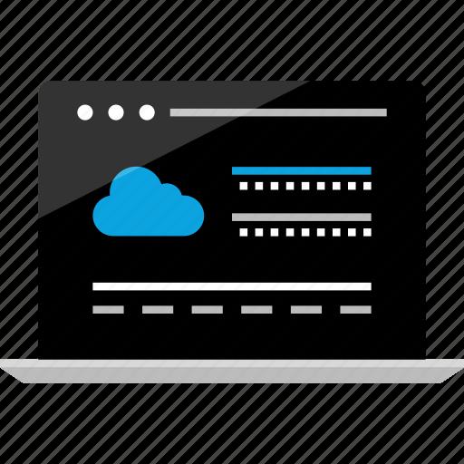 activity, cloud, data, internet, online, server, wireframe icon