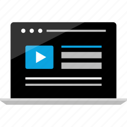 activity, internet, media, online, wireframe, youtube, youtuber icon
