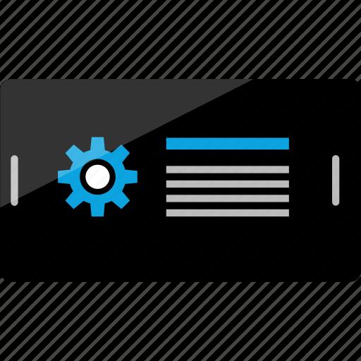 activity, gear, internet, online, phone, setup, wireframe icon