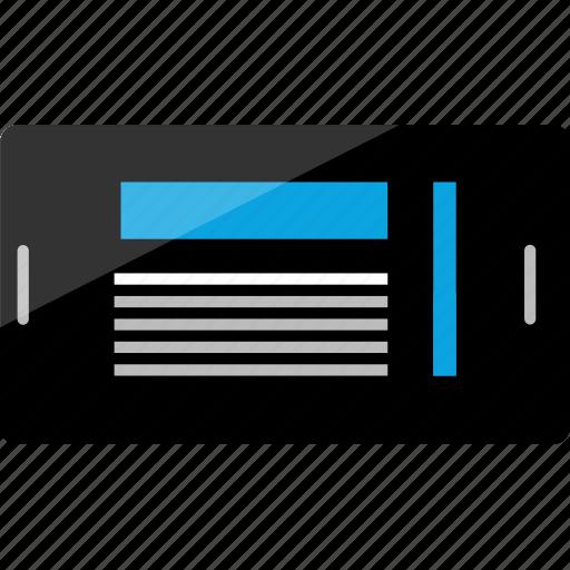 activity, internet, online, phone, scroll, website, wireframe icon