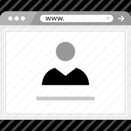 brower, friend, online, wireframe icon