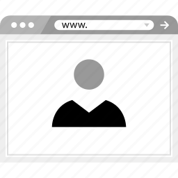 brower, friend, online, web, wireframe icon