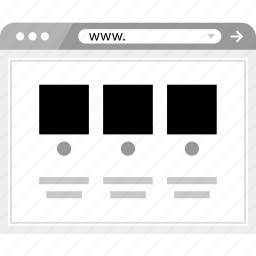 brower, gallery, list, view, wireframe icon