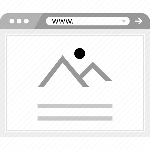 blog, brower, gallery, layout, page, wireframe icon