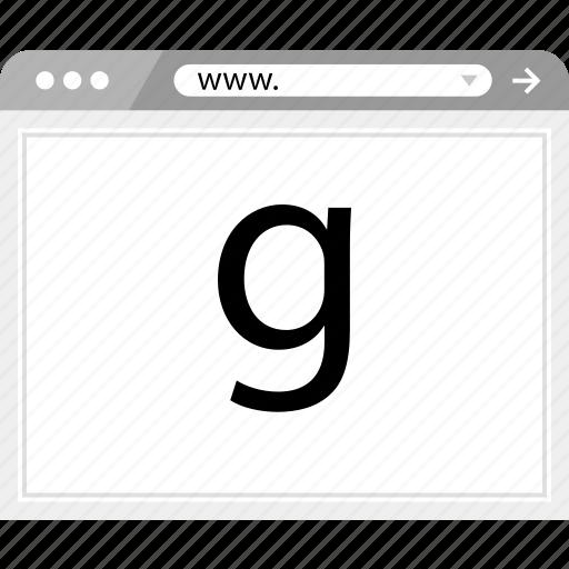 brower, google, ok, wireframe icon