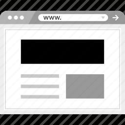 header, layout, mockup, online, wireframe icon