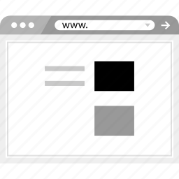 blog, brower, list, post, wireframe icon