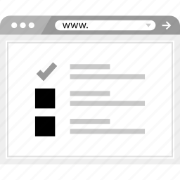 check, layout, list, mark, page icon