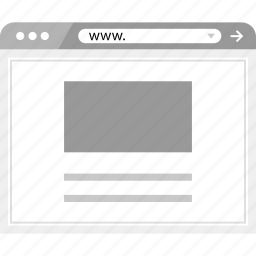 brower, layout, online, page, web, wireframe icon