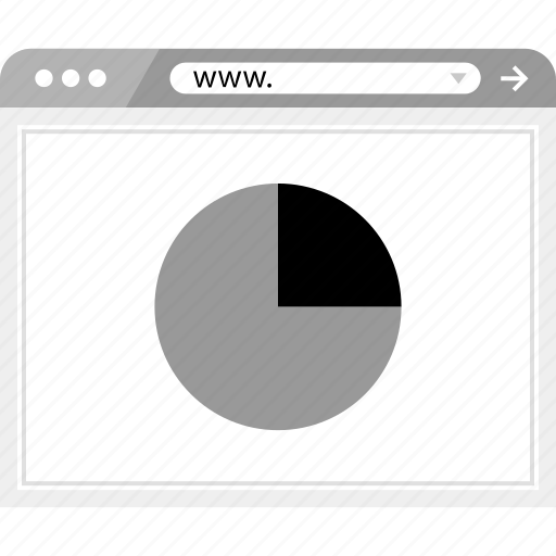 chart, graph, online, pie, report icon