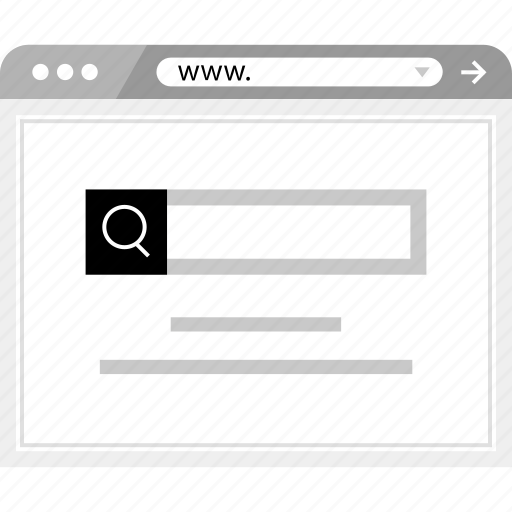 brower, online, search, web, wireframe icon