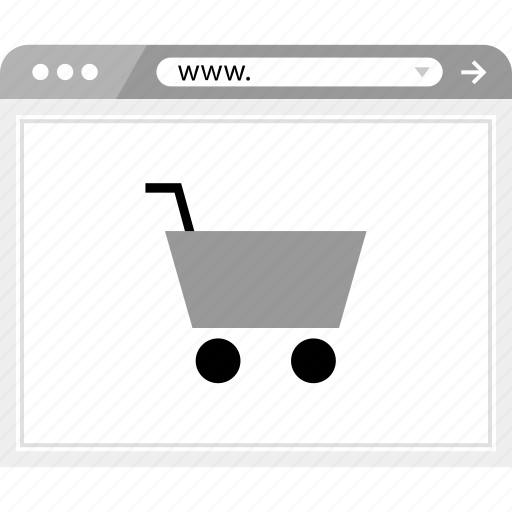 brower, cart, shop, shopping, wireframe icon