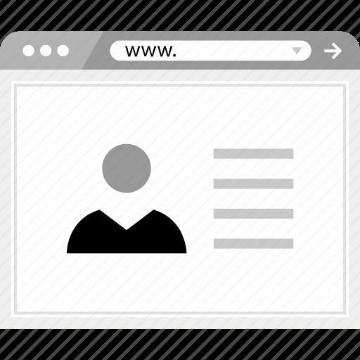 brower, facebook, friend, online, user, wireframe icon
