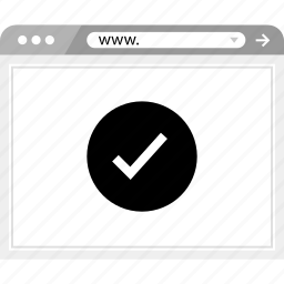 brower, check, mark, wireframe icon