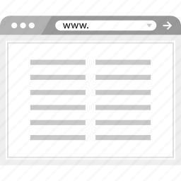 brower, online, paragraph, wireframe icon