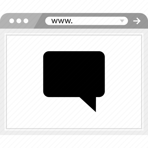brower, chat, talk, wireframe icon