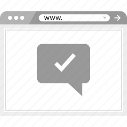chat, check, mark, ok, talk, wireframe icon