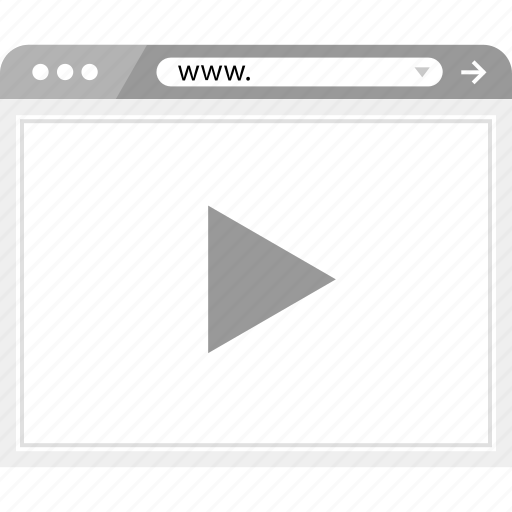 brower, play, video, wireframe, youtube icon