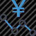 analytics, analyze, money, yen icon