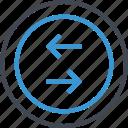 arrows, business, left, revenue, right icon