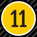 eleven, number