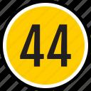 number, 44
