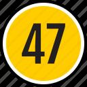 number, 47