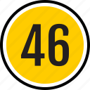 count, fourty, number, six, track icon