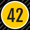 42, number