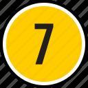 number, seven