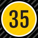 number, 35