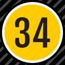 number, 34