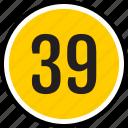 number, 39