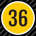 number, 36