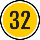 count, number, thirty, track, two icon