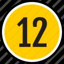 number, twelve