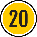 20, number, twenty