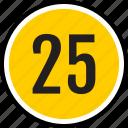 number, 25