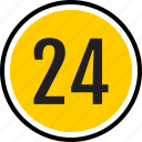 number, 24