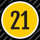 number, 21