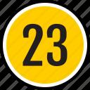 number, 23