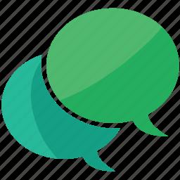 bubbles, chat, comment, messages icon