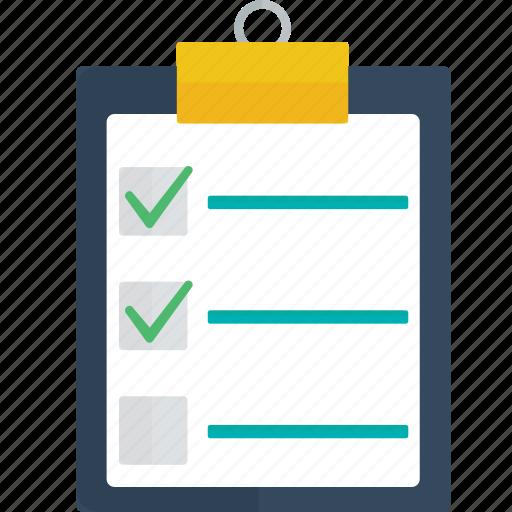 board, checklist, pad, report icon