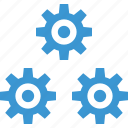 business, gear, options, plan, setup, working icon