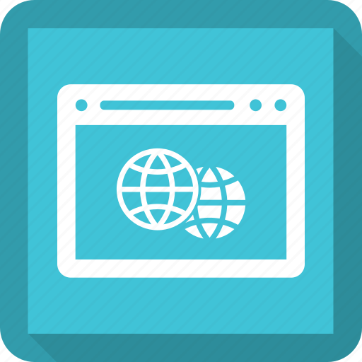 browser, earth, internet, webpage, website icon