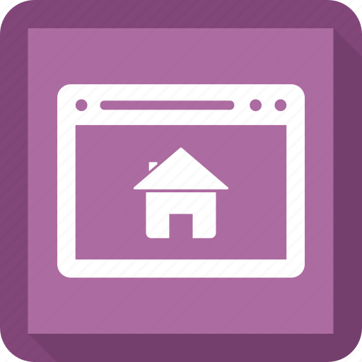 browser, house, internet, online home, webpage, website icon