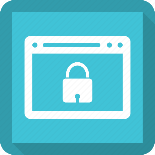 browser, internet, lock, webpage, website icon
