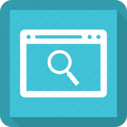 application, browser, search, software, window icon