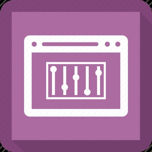 browser, internet, music bar, online sound, seo, web, website icon
