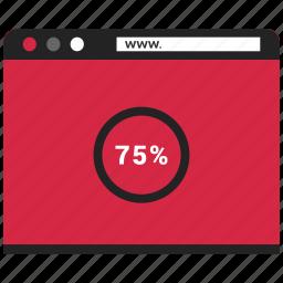 browser, content, explorer, website icon
